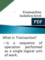 Transaction iSolation Levels