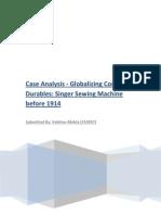 Singer Case Analysis [F10057]