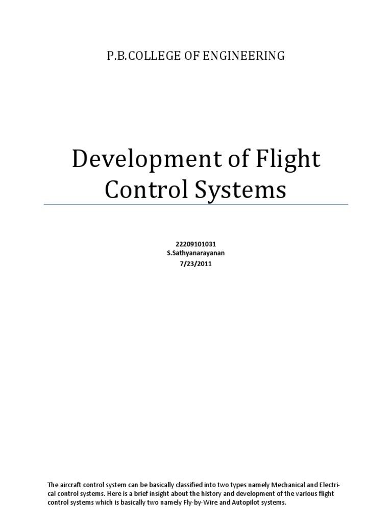 History of Controls | Aircraft Flight Control System | Aviation