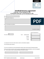 Tenancy Agreement RLA AST