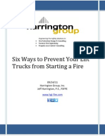 Six Ways to Prevent Lift Truck Fires