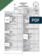 Checklist para tractocamion