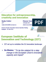 110711 EIT Education for Creativity Entrepreneurship and Innovation Final