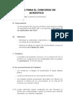 BASES PARA EL CONCURSO DE ACRÓSTICO