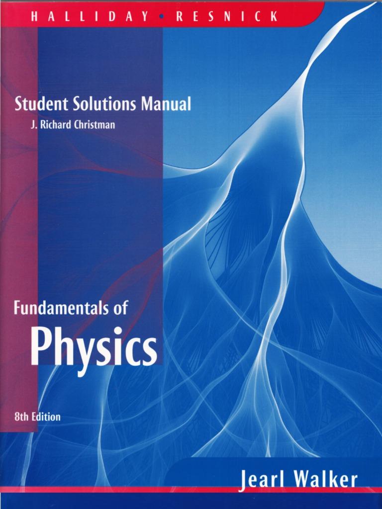 hallyday fundamentals of physics 8e student solution manual rh scribd com Fundamentals of Physics Halliday Resnick Walker halliday resnick walker student solutions manual pdf