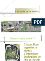 Projet agenda 21 au lycée jay de Beaufort