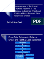 Measurement of Profit and Financial Position