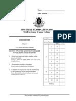 SPM Percubaan 2008 MRSM Chemistry Paper 2