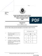 SPM Percubaan 2008 MRSM Chemistry Paper 3