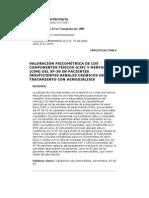 VALORACIÓN PSICOMÉTRICA DE LOS COMPONENTES FÍSICOS (CSF) Y MENTALES (CSM) DEL SF-36 EN PACIENTES INSUFICIENTES RENALES CRÓNICOS EN TRATAMIENTO CON HEMODIÁLISIS