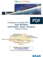 Catalogue de stages 2011 2012 - Atos Worldline - Unité PST Seclin - Paris