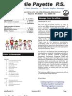 11 Newsletter Sept 11 Vol 2