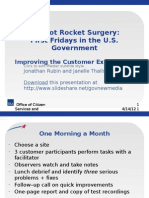 It's Not Rocket Surgery:First Fridays in the U.S. Government
