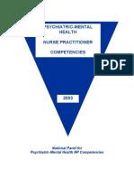 PMHNP Competencies - 2003