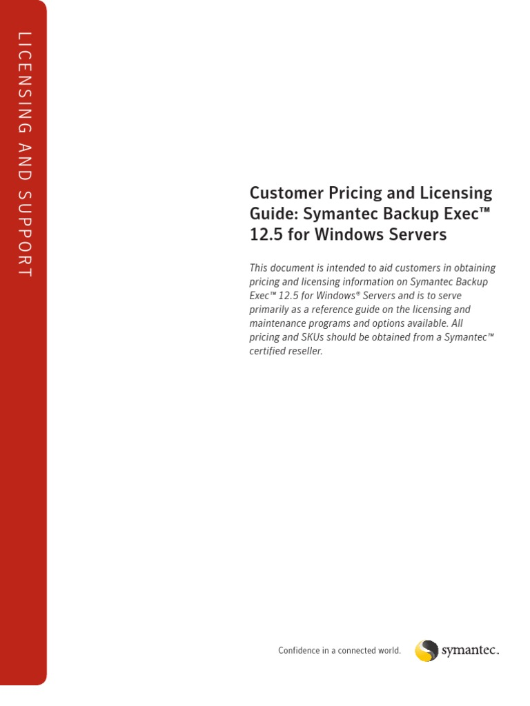 Licensing and support. Customer pricing and licensing guide.