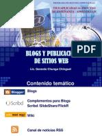 Blogs y Publicación de Sitios Web