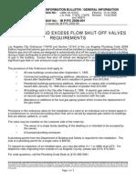 Seismic Gas Shut-Off Valve Requirements