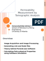 Permeability Measurement by Tomographic Analysis