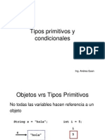 Introduccion a Tipos de Datos Primitivos y Condicionales en Java