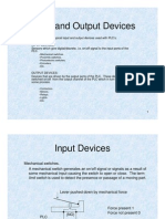 PLC Input and Output Devices