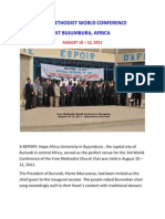 Report of the Free Methodist World Conference - Bujumbura - 2011