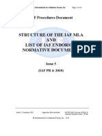 858670.IAF-PR4-2010 Structure of MLA & Endorsed NormDocs Issue 5 R Pub