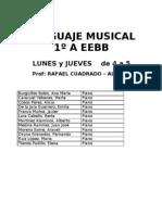 Horarios Curso 2011-2012 -Lenguaje Musical