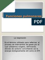 Funciones pulmonares
