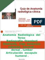 Quiz de  Anatomía   Radiológica  del  torax