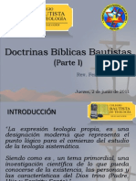Conf_DOCTRINAS BÍBLICAS BAUTISTAS_Parte I_Jueves 2 Jun 2011