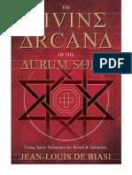AURUM SOLIS - The Divine Arcana of the Aurum Solis - FOREWORD by Carl Llewellyn