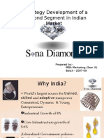 Current Scenario of Daimond market in india, and create a new brand.