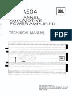 Jbl Lc-A504 Service Manual
