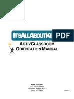 IAAK ActivClassroom Orientation Manual