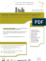 Creating Cooperative Community Engagement