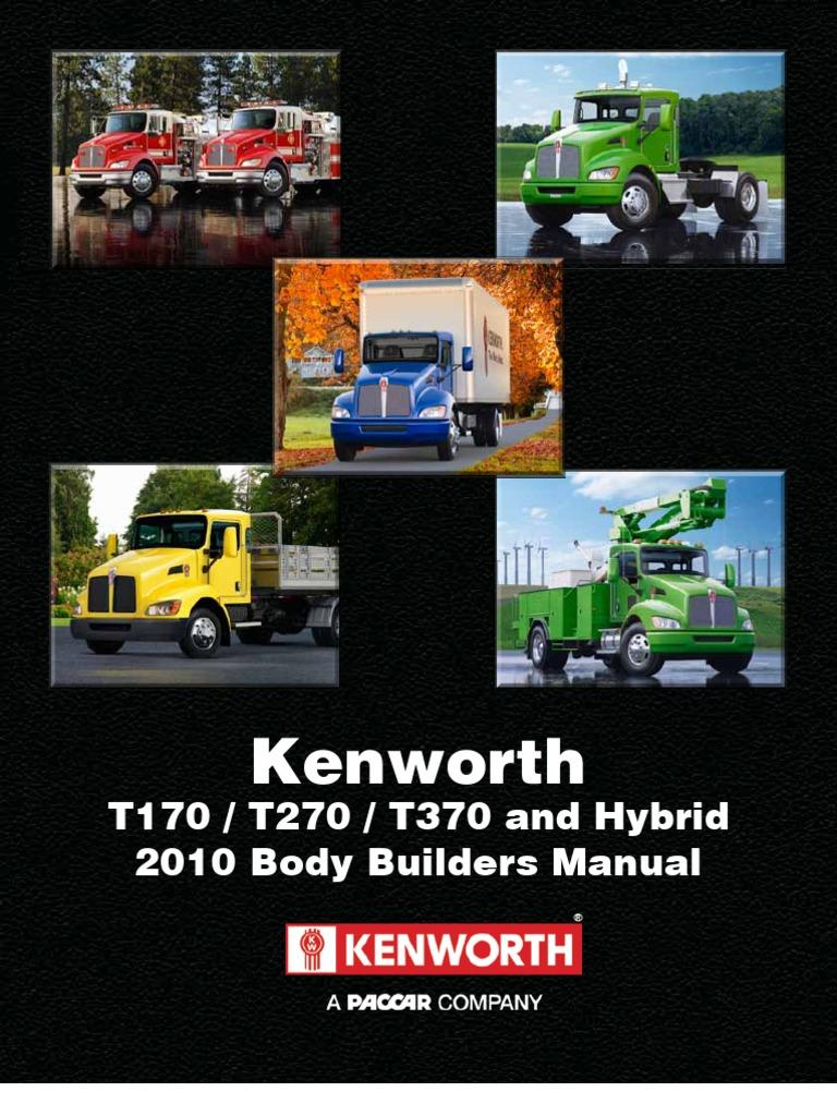 Kenworth T270 Fuse Box Location List Of Schematic Circuit Diagram 2010 Wiring Medium Duty Body Builder Manual Hybrid Vehicle Rh Scribd Com 2014