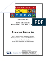 America's Family Pet Expo Exhibitor Packet