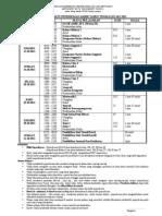 Jadual Peperiksaan Akhir Tahun Tingkatan 1 & 2 Tahun 2011