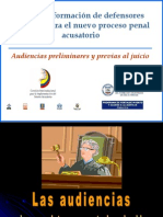 Audiencias Prelim in Ares y Previas Al Juicio