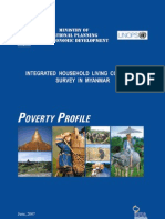 Integrated Houshold Living Conditions in Myanmar 2007