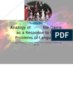 Analogy of the Game as a Response to the Problem of Language (a Thesis)