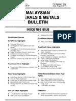 Malaysian Minerals Bulletin July-Aug 2011