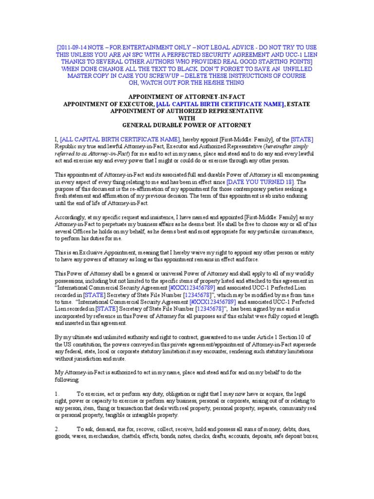 Redacted general durable poa executor ar power of attorney redacted general durable poa executor ar power of attorney mortgage law xflitez Gallery