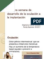 Primera semana de desarrollo de la ovulación a la implantación