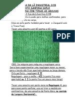 11) EM 2 FIOS DE LÃ - PONTO SANFONA COM TODAS AS AGULHAS