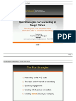 Five Strategies for Marketing in Tough Times