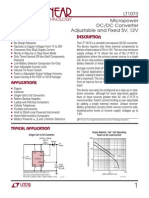 LT1073 Usos y Aplicaciones 1.5V to 12V