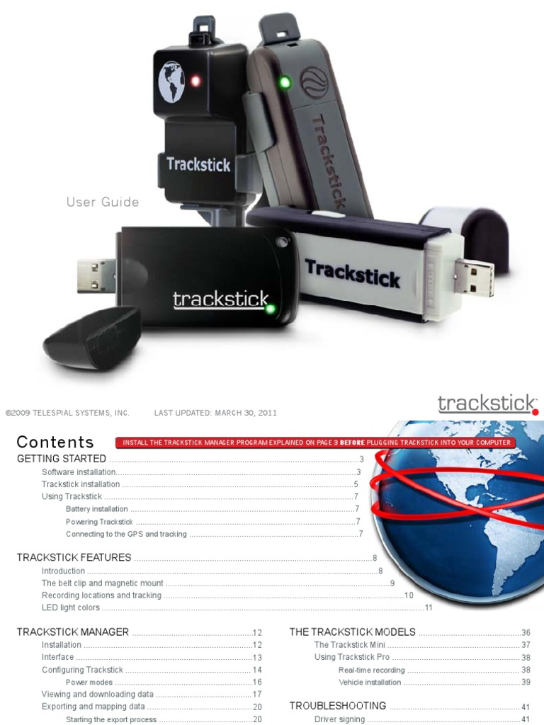 trackstick manager