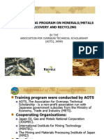 The Training Program on Minerals-Metals Recovery and Recyclying by AOTS Japan [Compatibility Mode]