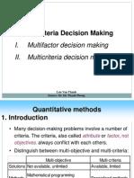 Ch12 Multi Criteria Decision Making